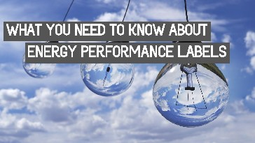 Energy Performance Labels Infographic