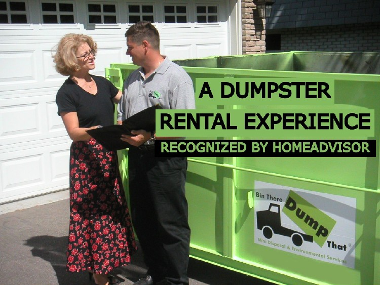 A Dumpster Rental Experience Recognized